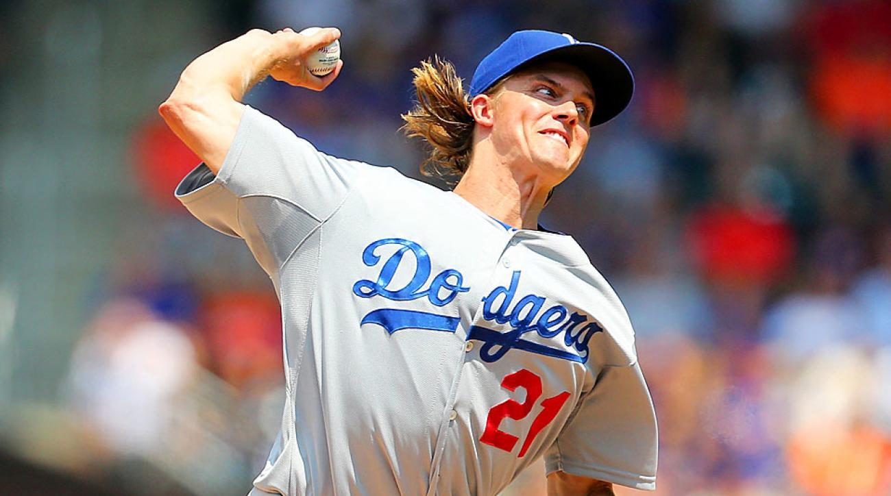 Zack Greinke Dodgers scoreless innings streak snapped