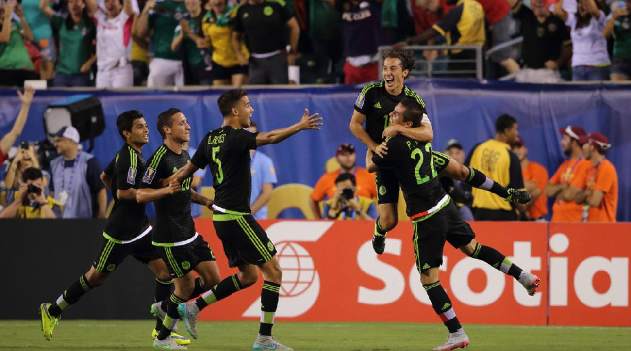 mexico gold cup final andres guardado jamaica goals highlights