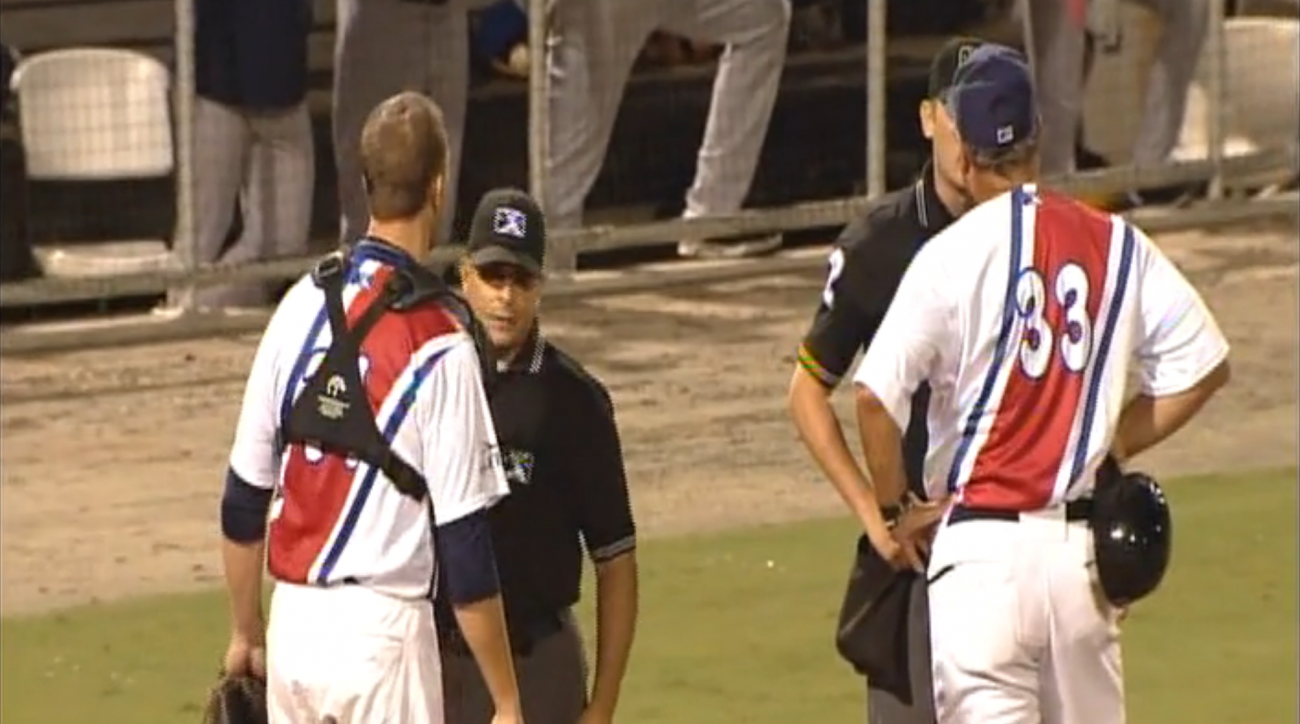 pensacola minor league manager catcher ejected