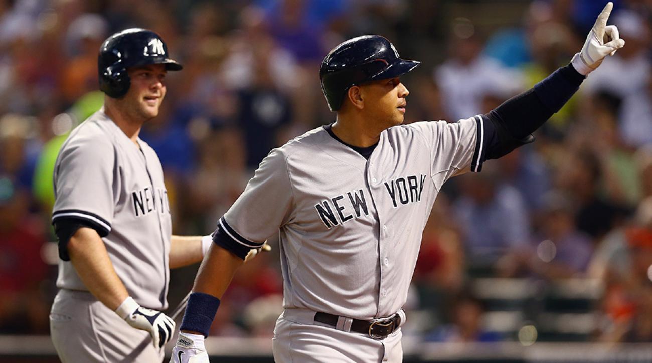 new york yankees alex rodriguez home run birthday video