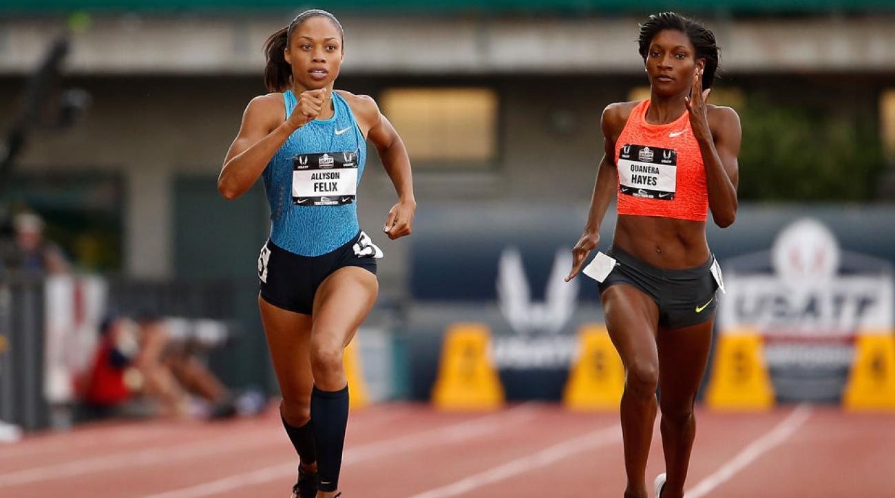 allyson felix 400 meter dash world championships beijing 2015