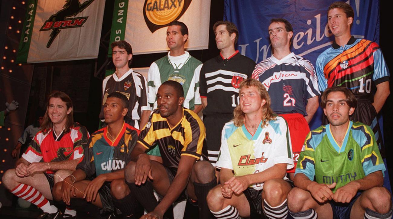 MLS original jersey unveil in 1996