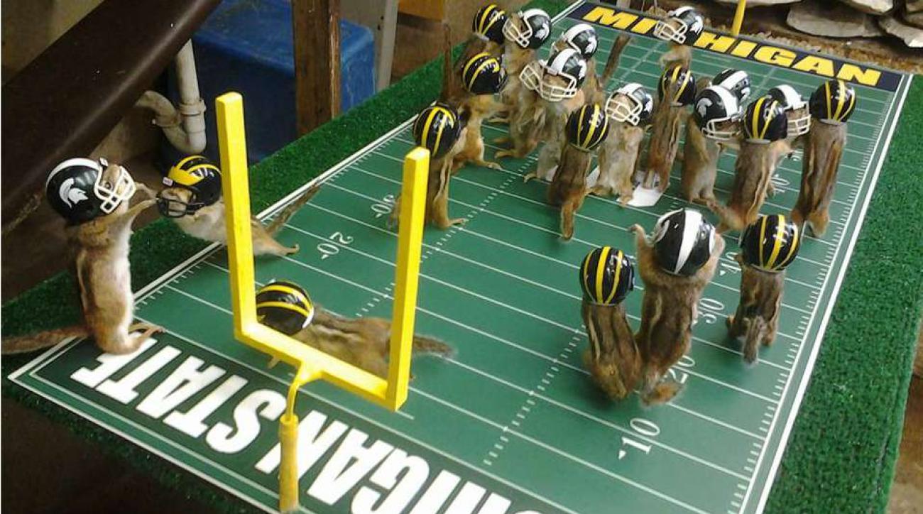 Michigan stae Michigan rivalry with Chipmunks