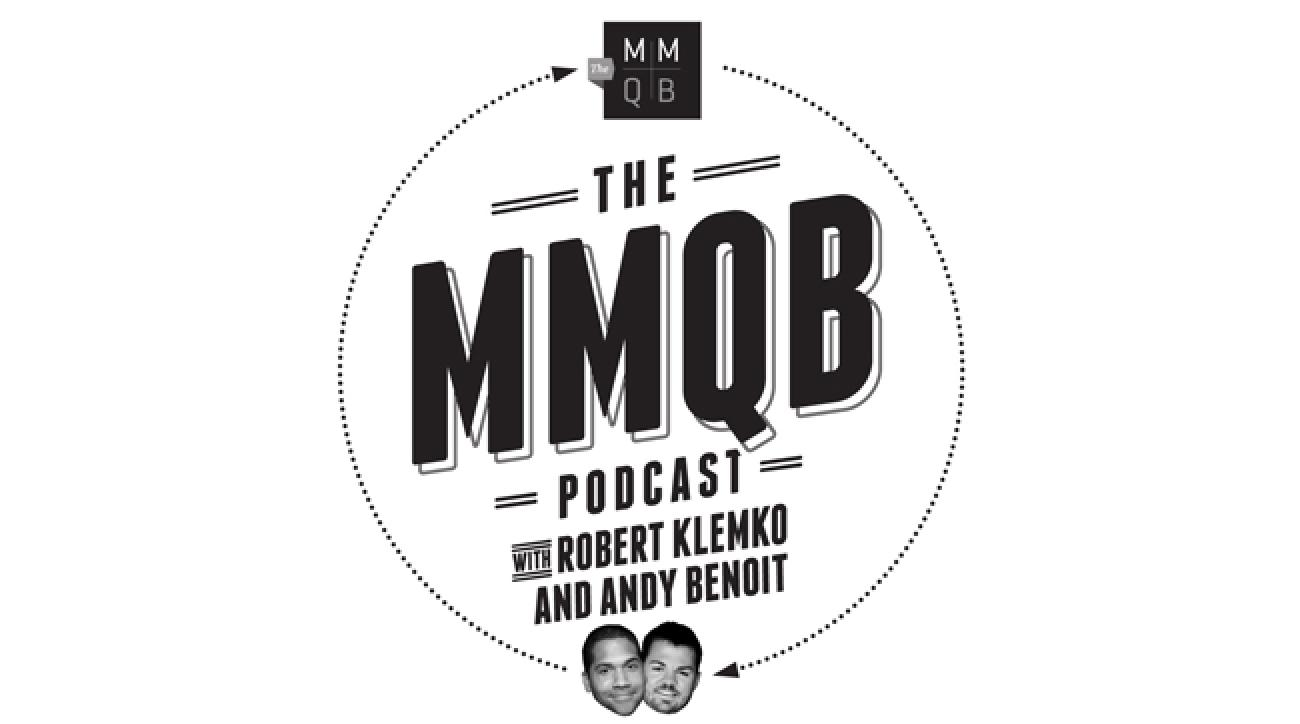 mmqb podcast art with Robert Klemko and Andy Benoit
