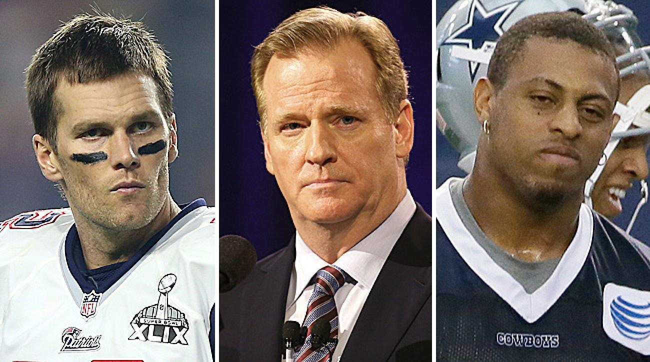 Roger Goodell's suspensions for Tom Brady and Greg Hardy