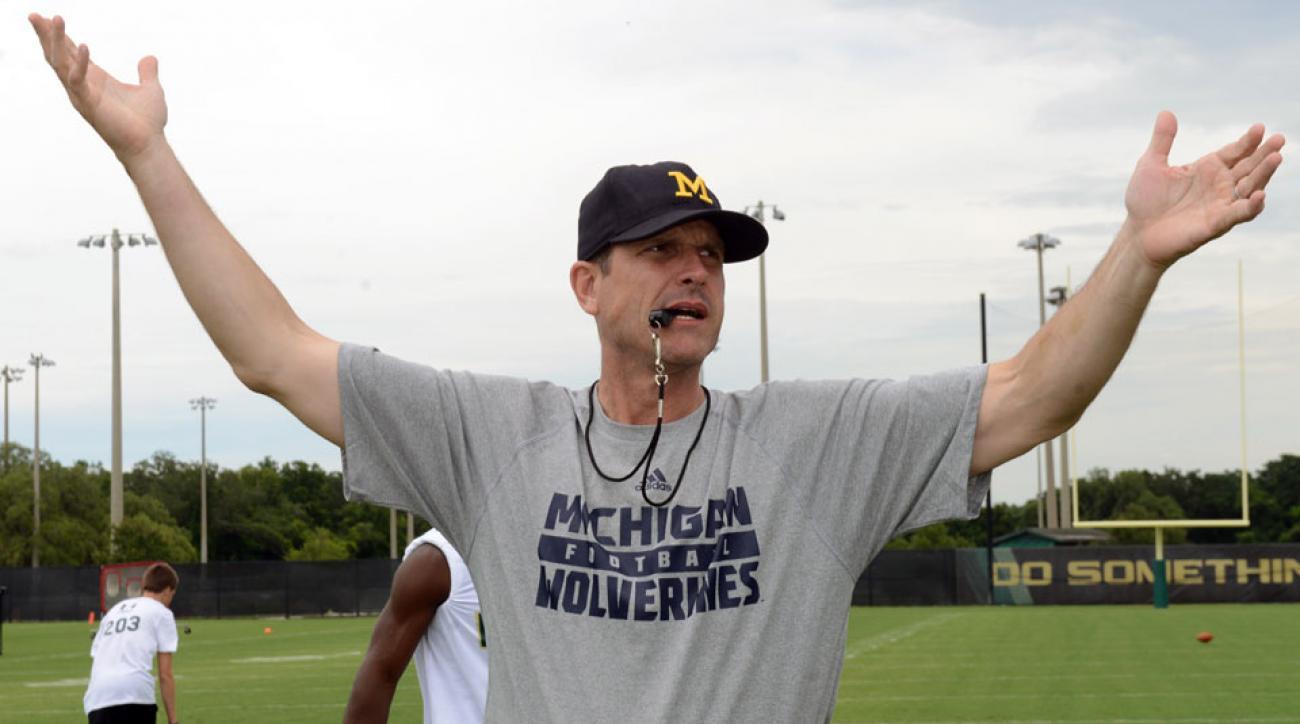 jim harbaugh michigan head coach big ten media days