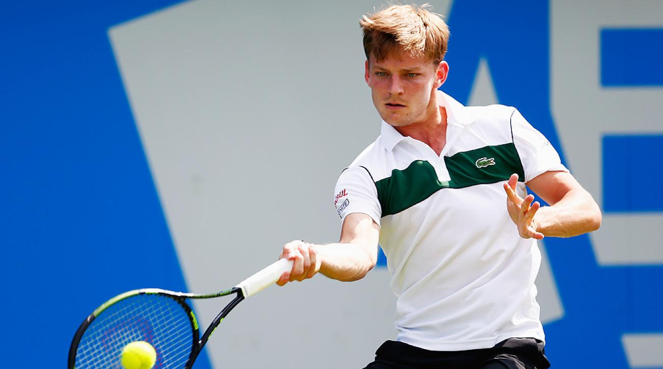 David Goffin advanced to the Swiss Open semifinals.