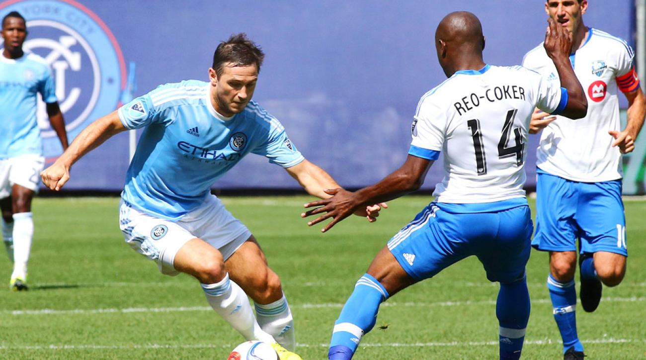 Frank Lampard made his MLS debut for NYCFC on Saturday.