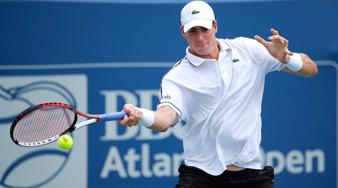 John Isner advanced to the Atlanta Open semifinals on Friday.