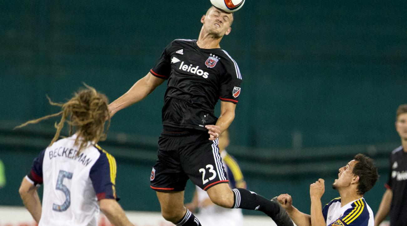 Perry Kitchen scored the game-winning goal for D.C. United against Real Salt Lake.