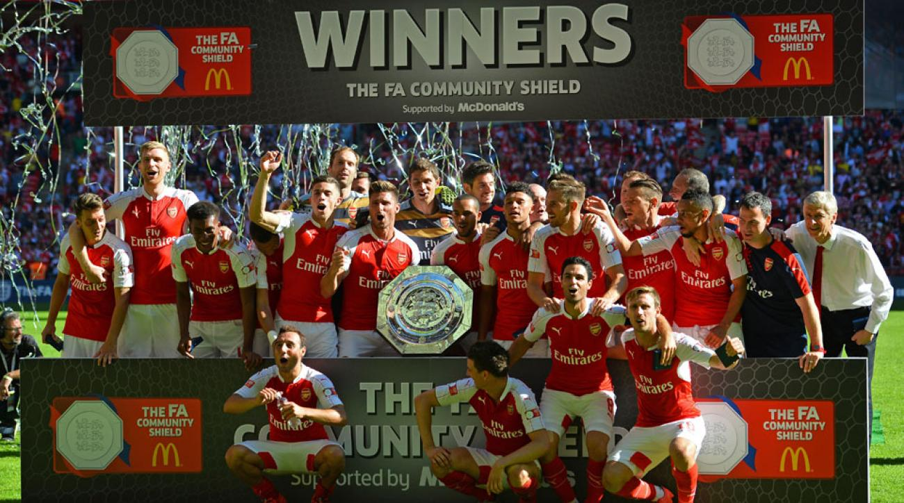 Arsenal beat Chelsea to win the Community Shield