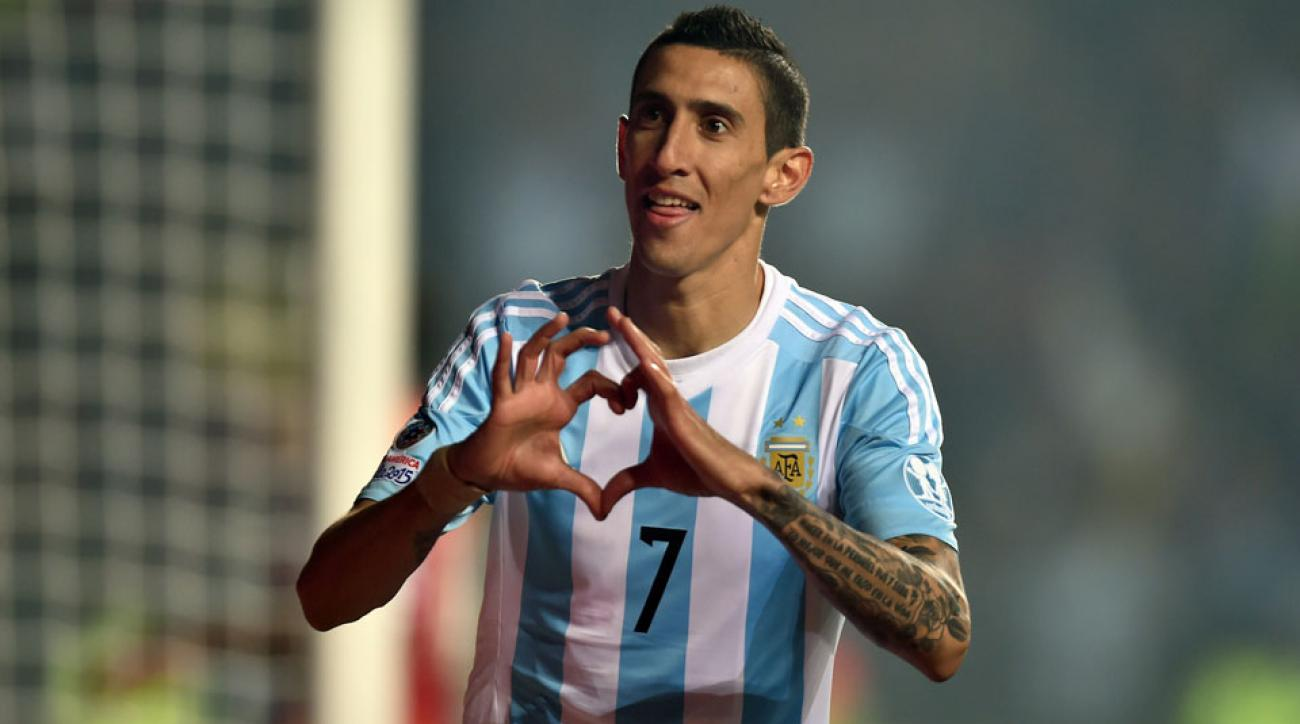 Angel di Maria is on his way from Manchester United to Paris Saint-Germain