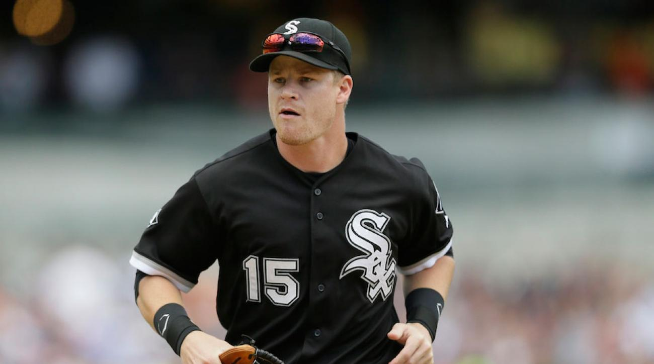 Chicago White Sox infielder Gordon Beckham was traded to the Angels during last year's waiver period. He re-signed with the White Sox before this season.