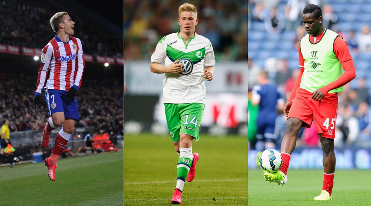 Antoine Griezmann, Kevin de Bruyne and Mario Balotelli could be on the move before the end of the summer transfer window