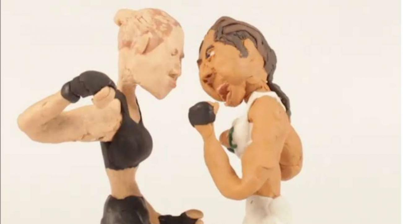 Ronda rousey, bethe correis knockout video in claymation