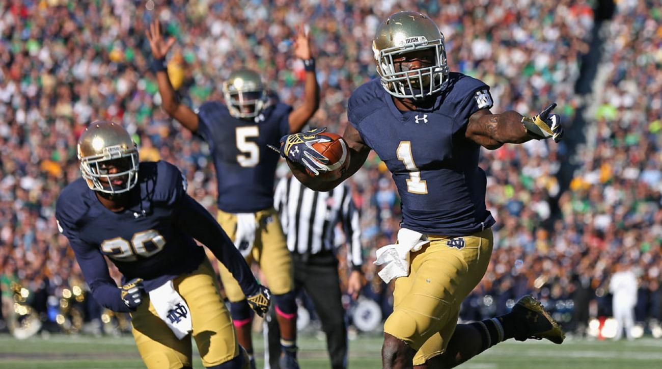 greg bryant ineligible notre dame 2015 season