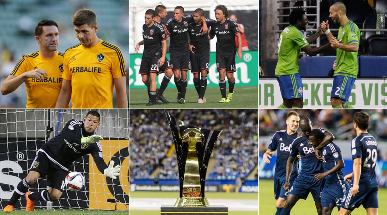 LA Galaxy, D.C. United, Seattle Sounders, Real Salt Lake, Vancouver Whitecaps vie for CONCACAF Champions League glory in 2015-16