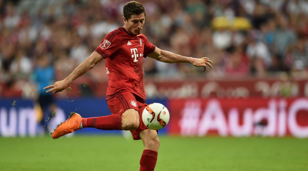 Robert Lewandowski scored a golazo for Bayern Munich vs. AC Milan in the Audi Cup
