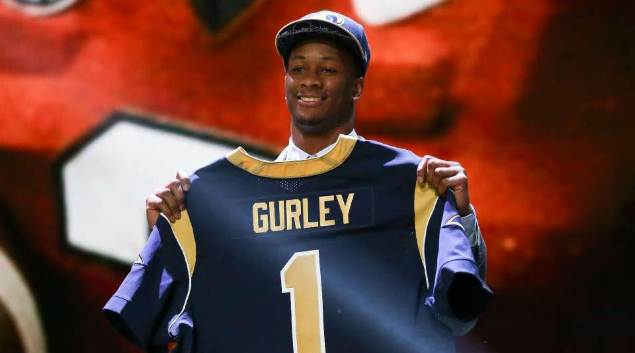 Rams rookie Todd Gurley wears a GoPro camera to practice