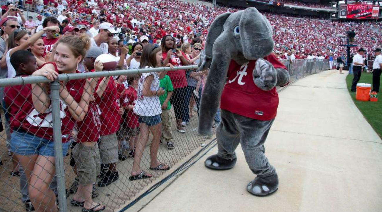 Alabama Crimson Tide fan already lined up for fan day