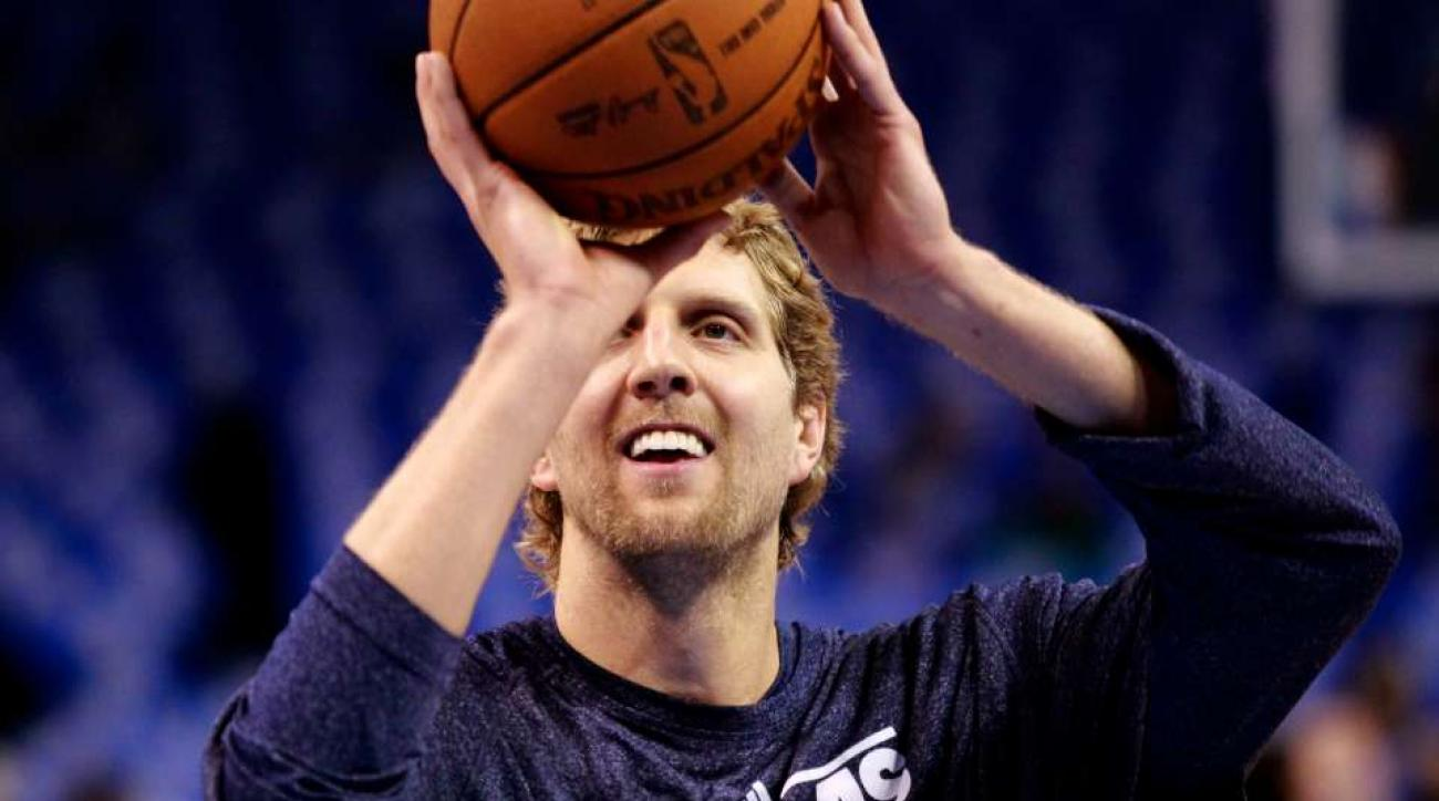 Dallas Mavericks' dirk nowitzki used to sing counting crows at the free throw line