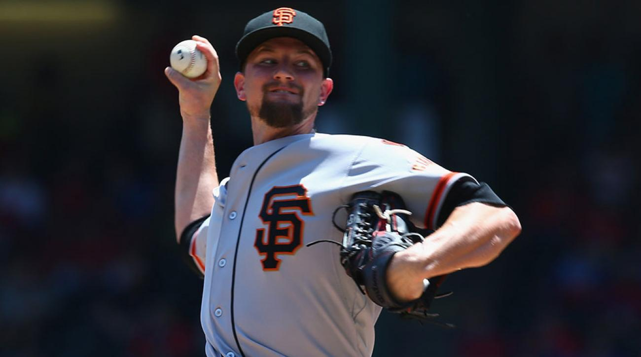 San Francisco Giants Mike Leake injury