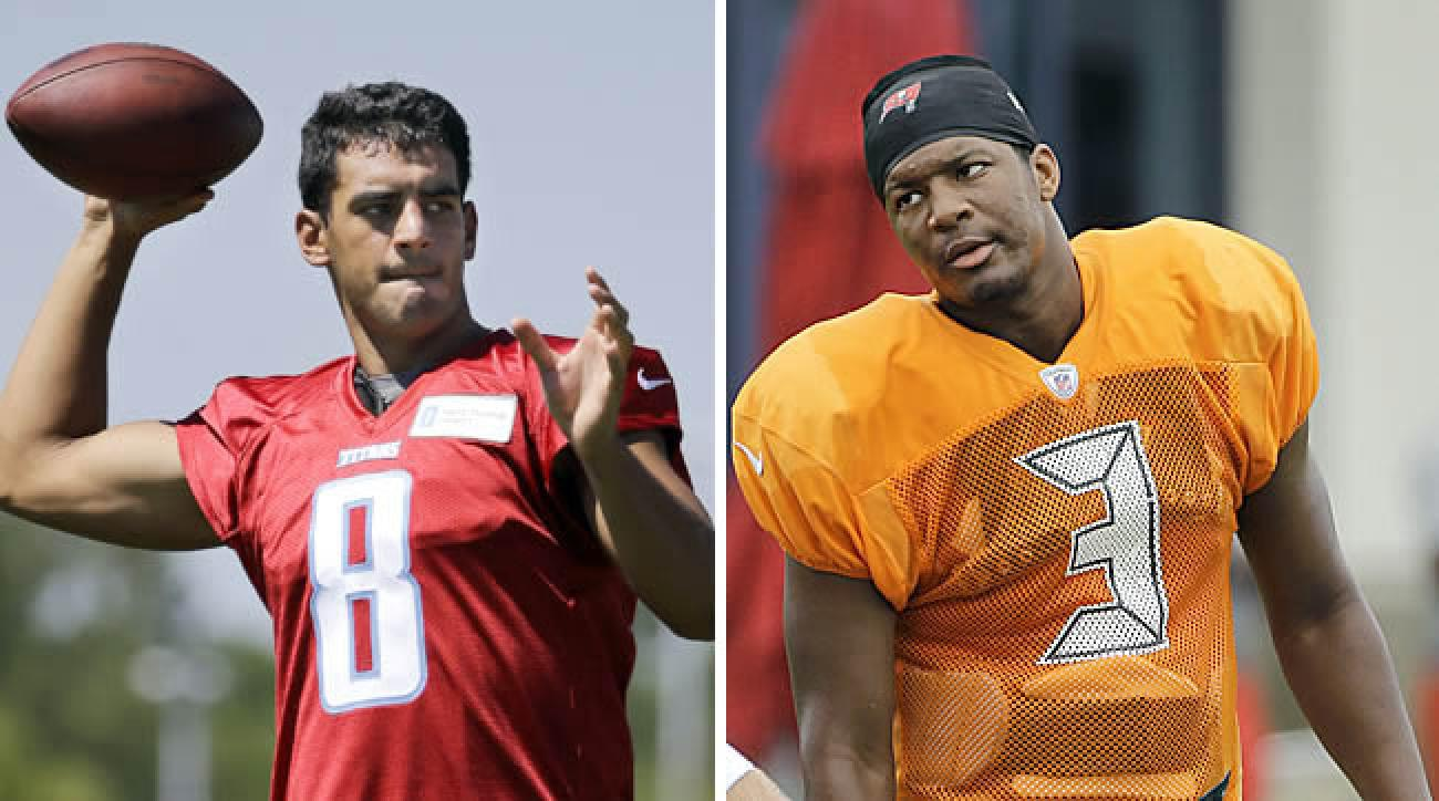 Marcus Mariota and Jameis Winston have had very different rookie training camp experiences