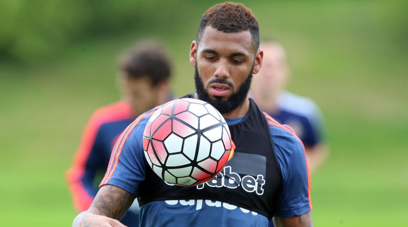 Yann M'Vila trains with Sunderland after signing on loan from Rubin Kazan