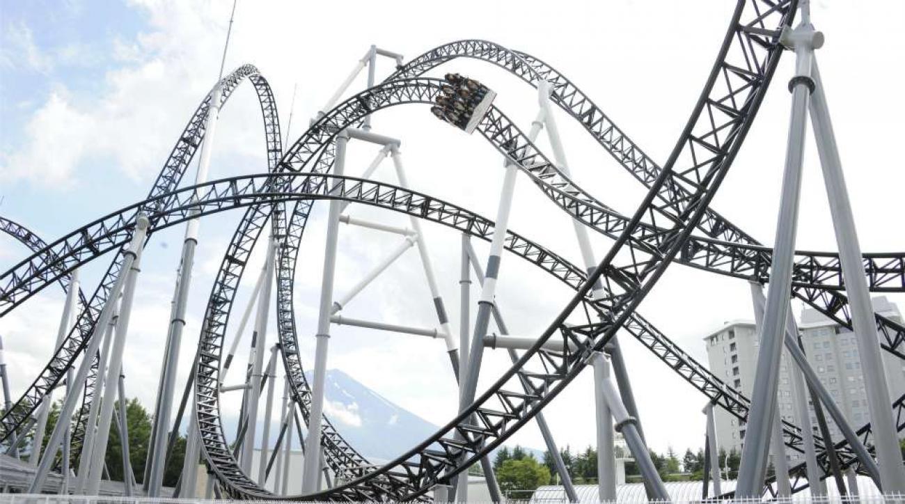 Roller coaster trick shot