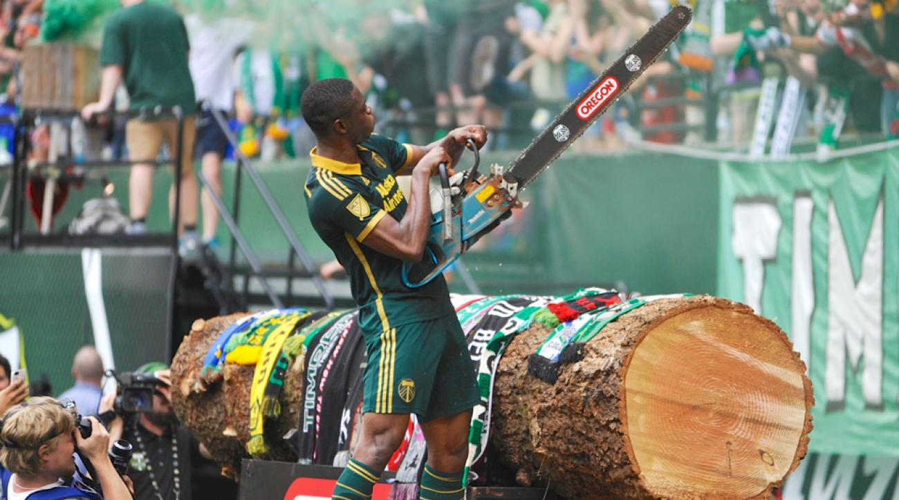 Timbers' Fanendo Adi scored the game-winning goal against the Fire.