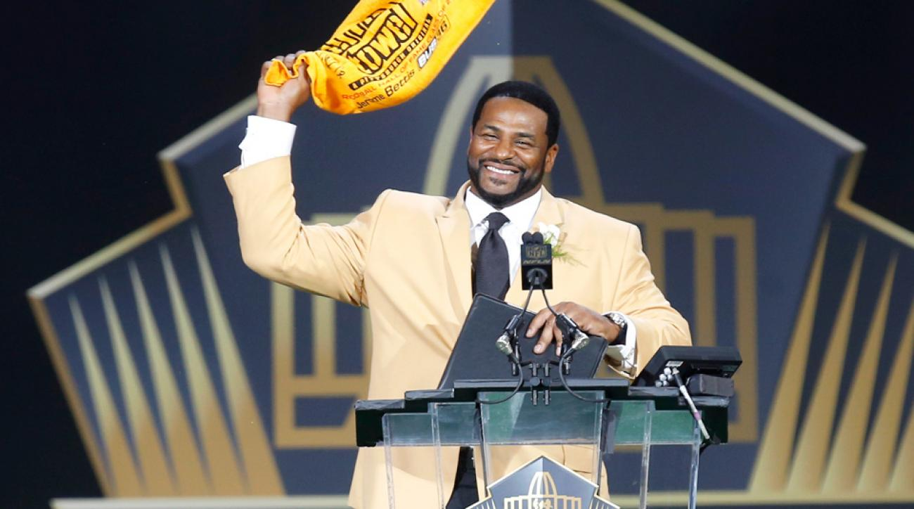 Jerome Bettis was inducted into the 2015 NFL Hall of Fame.