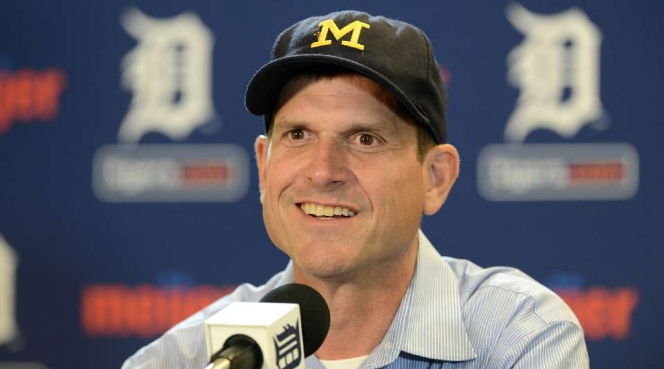 Michigan's Jim Harbaugh is a great babysitter