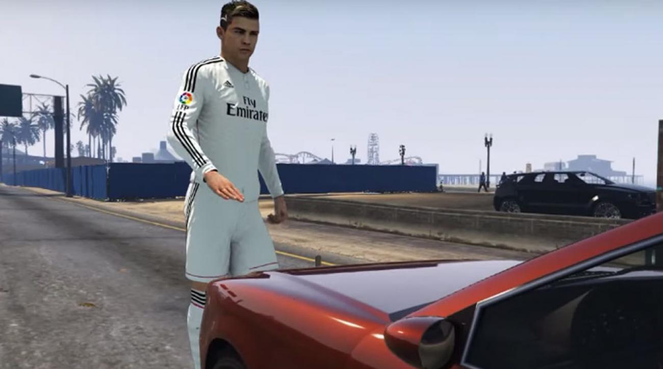 Ronaldo gor succe i grand theft auto v