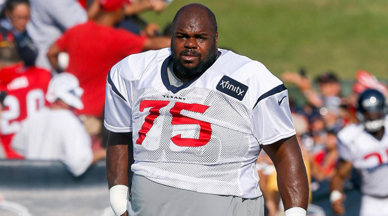 Vince Wilfork in Houston Texans training camp