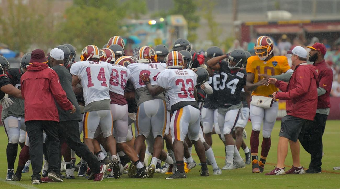 washington redskins houston texans brawl