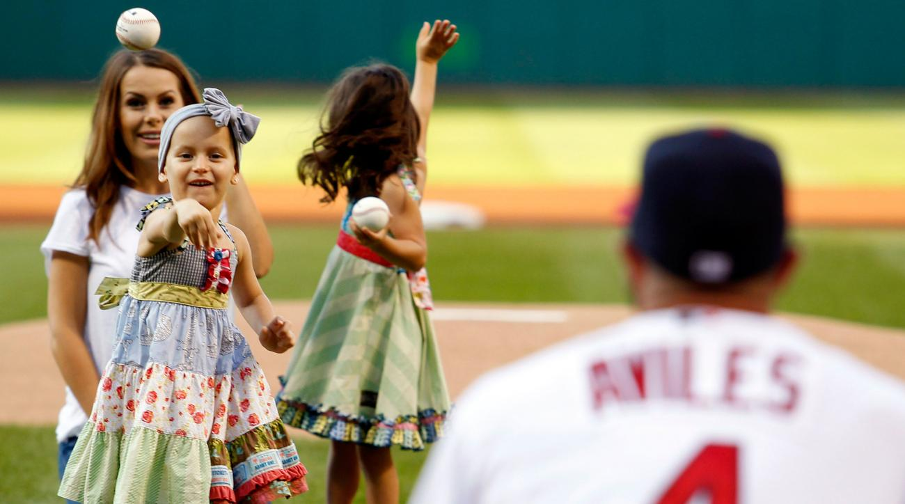 mike aviles daughter cancer first pitch indians