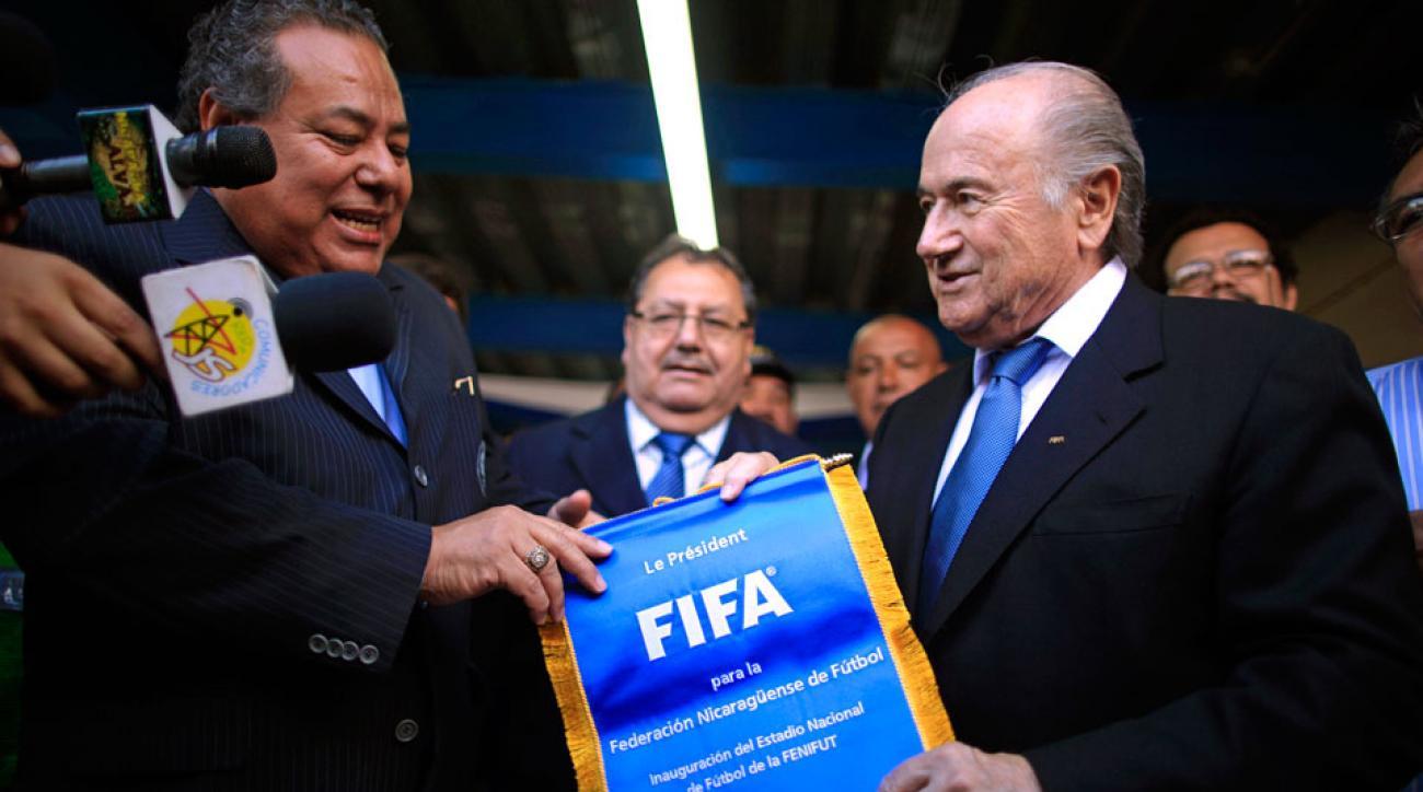 Julio Rocha and Sepp Blatter