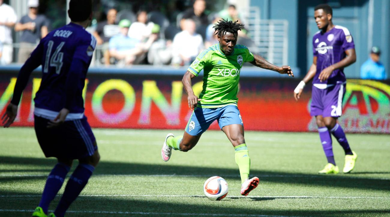 Obafemi Martins scored two goals in the Sounders' win over Orlando City.