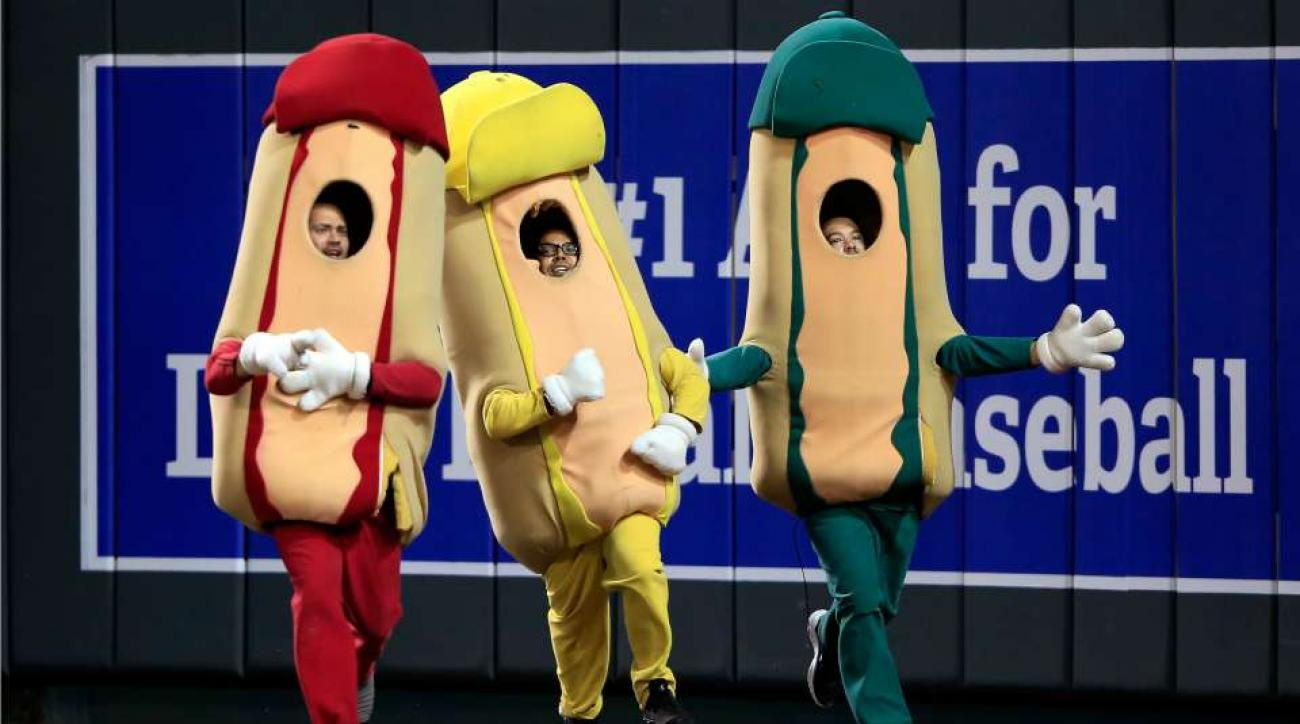 Royals hot dog race ends in photo finish