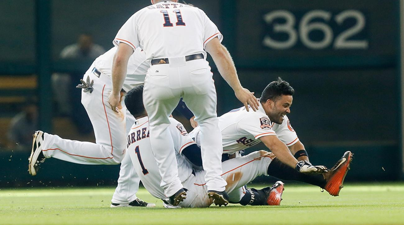 houston astros carlos correa jose altuve tackle