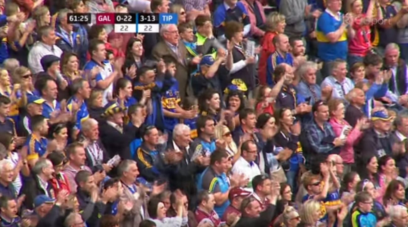 hurling tipperary noel mcgrath cancer return ovation video