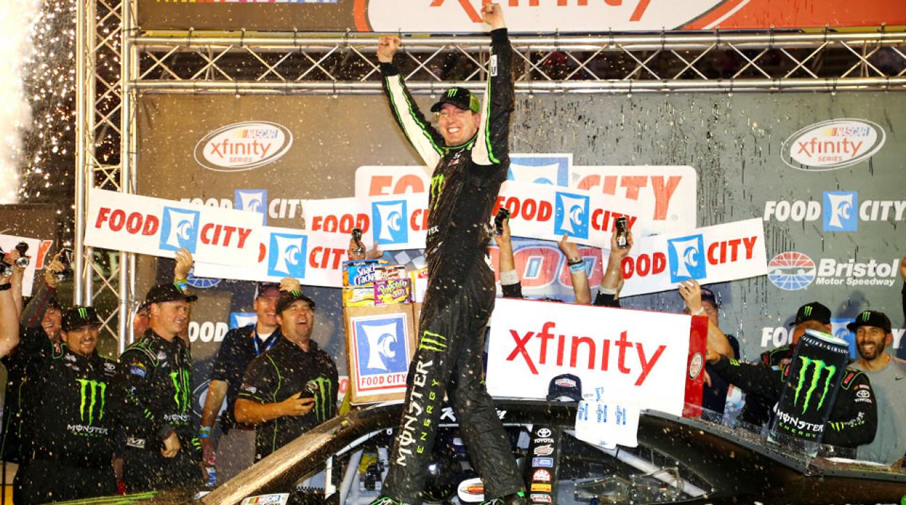 Kyle Busch won his eighth Xfinity Series race at Bristol Motor Speedway on Friday.