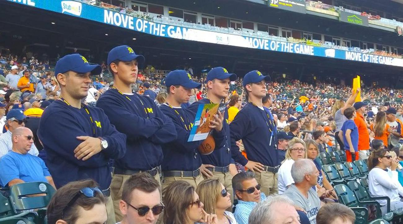 A bunch of Jim Harbaugh imposters showed up at a Tigers game  sc 1 st  Sports Illustrated & Michigan football coach Jim Harbaugh costumes at Tigers game | SI.com