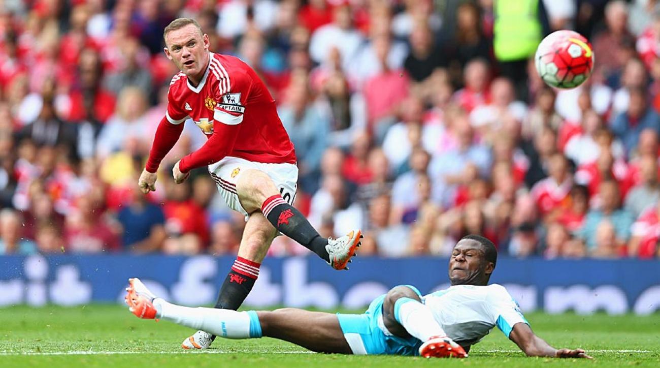 Wayne Rooney Manchester United vs. Newcastle