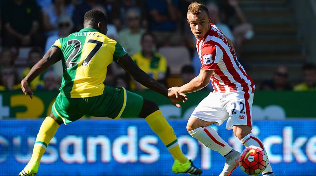 Xherdan Shaqiri Stoke City vs. Norwich