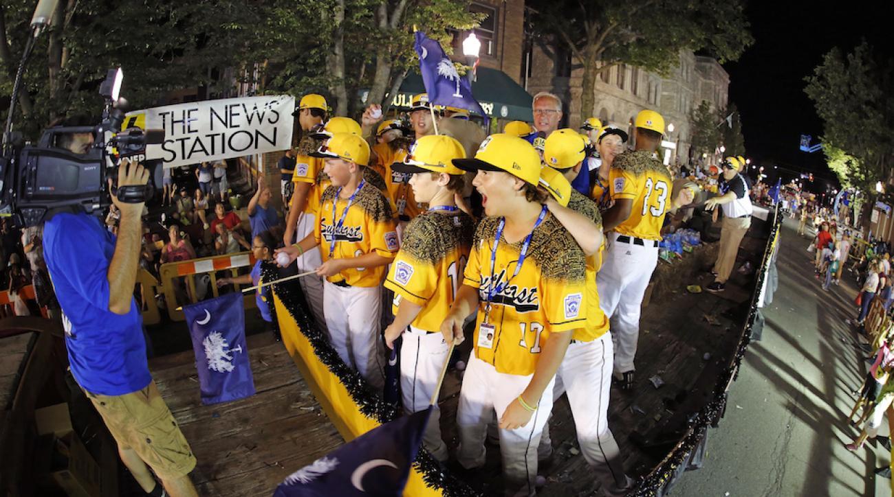 The South Carolina little league team during the Little League Grand Slam parade.