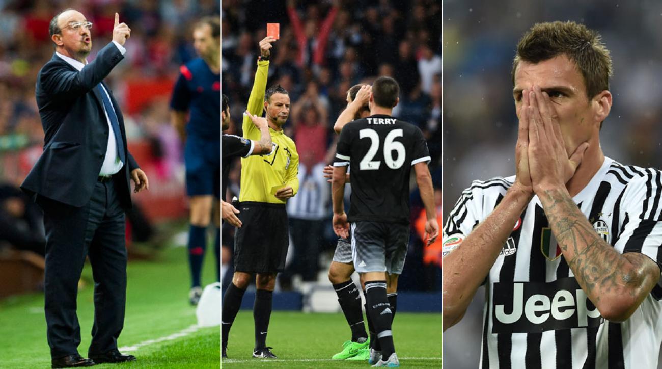 It was a rough weekend for Rafa Benitez's Real Madrid, Chelsea's John Terry and Mario Mandzukic's Juventus
