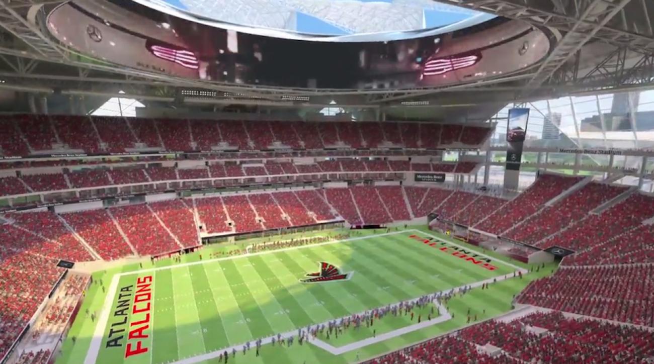 Sec championship game moves to new atlanta falcons stadium for Falcons mercedes benz stadium
