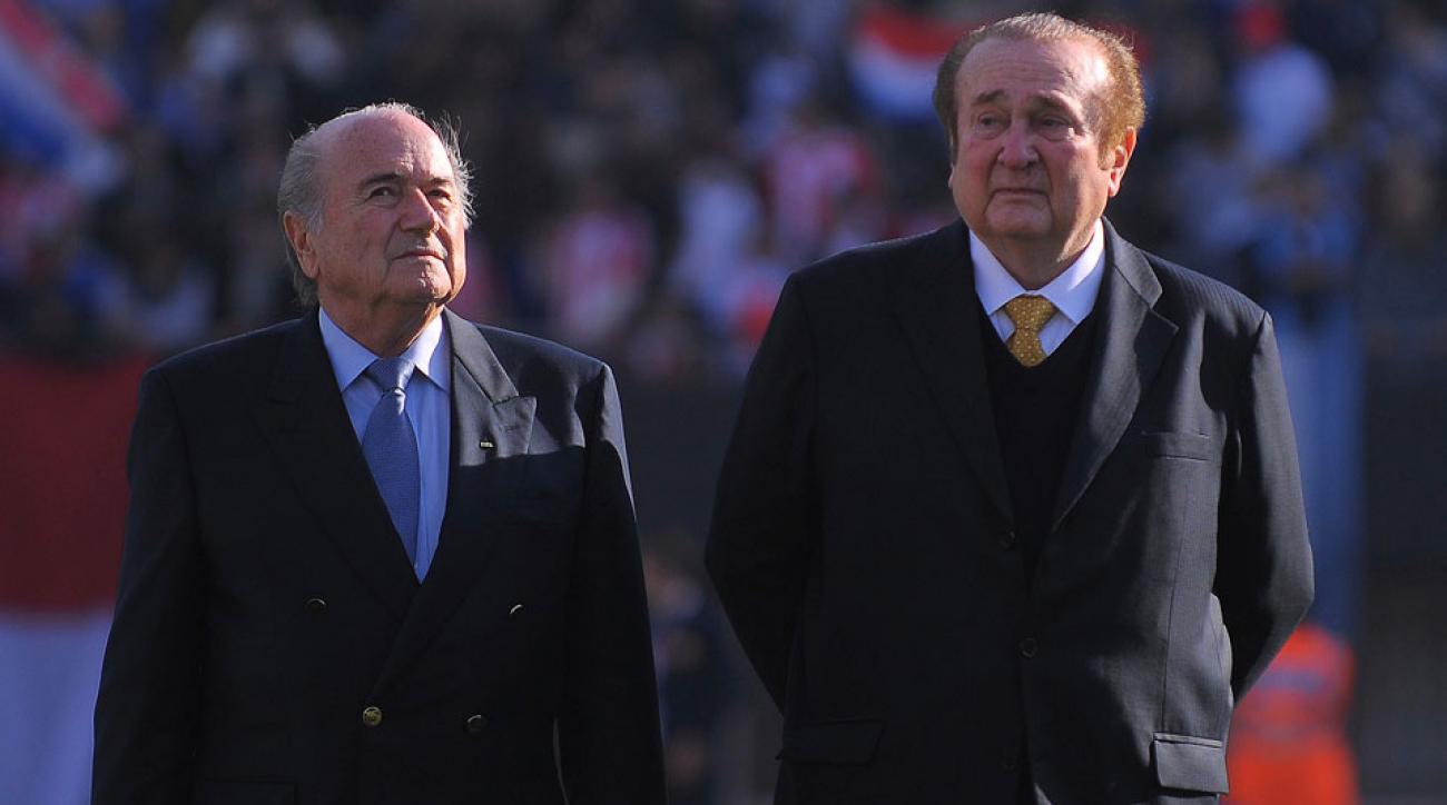 Sepp Blatter and Nicolas Leoz in 2011