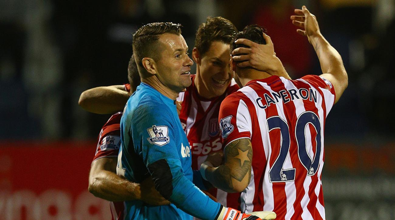 league cup stoke city geoff cameron usa chant video